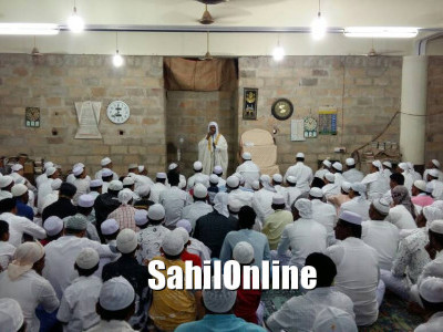 Moulana Munawwar Peshmam led Eid Ul Fitr prayer at Bilal Jumma Masjid, Purvarga, Bhatkal