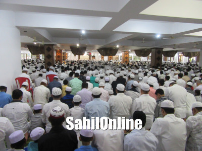 Maulana Ansar Madni led Eid Ul Fitr Namaz in Tanzeem Millya Jamia Masjid Bhatkal