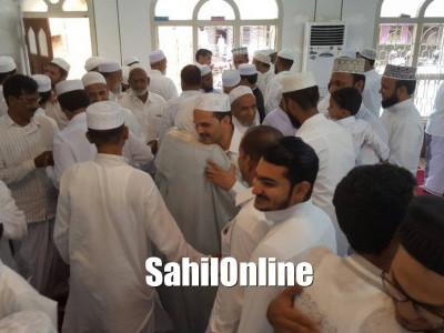 Maulana Shakeel Sukri Nadvi led Eid Ul Fitr Namaz in Jamia Masjid, Manki