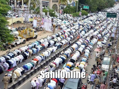 Huge crowd of Muslims witness Eid Ul Fitr celebration in Bengaluru