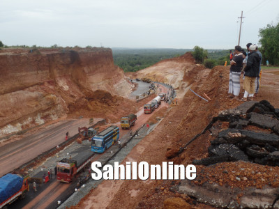 Landslide at Uppinangady; traffic movement disrupted