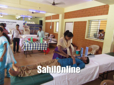 Blood donation camp held at SGS College, Bhatkal