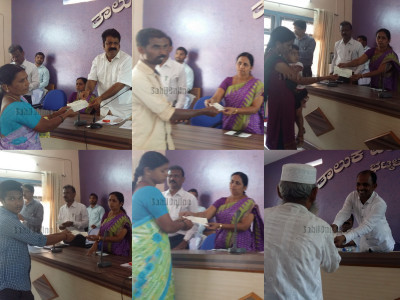 Bhatkal MLA Mankal Vaidya distributed cheques to beneficiaries granted from the Chief Minister's Fund