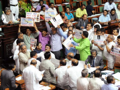 Ministers' absence in Assembly irk BJP members