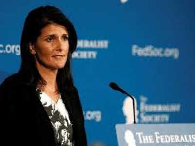 Mother couldn't be a judge in India for being a woman, claims Nikki Haley