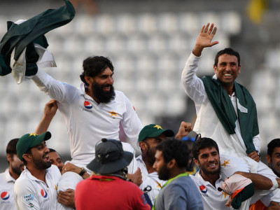 Misbah, Younis bid adieu as Pakistan win thriller for 1st West Indies series victory