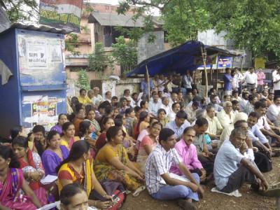 ملیالم زبان لازمی کرنے کے خلاف کاسرگوڈ میں کنڑیگا باشندوں کا احتجاجی دھرنا