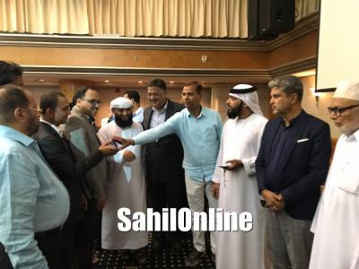 Karnataka education minister Tanveer Sait visits Dubai; receives warmth welcome from Coastalites