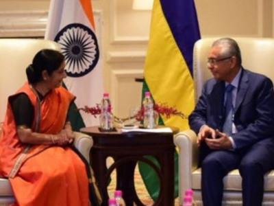 سشماسوراج نے کی ماریشس کے وزیر اعظم کے ساتھ بات چیت