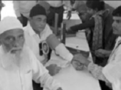 کاروارکے رحیم خان یونیٹی ہائی اسکول میں مفت صحت جانچ کیمپ کا انعقاد