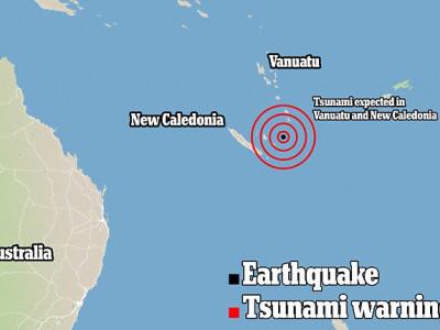 مشرقی آسٹریلیا میں نیو کیلیڈونیا کے قریب 7.3 شدت کا زلزلہ