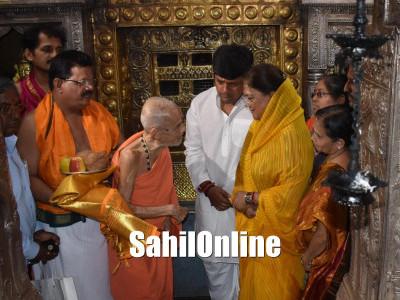 Rajasthan CM visits Kollur temple