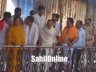 Rajasthan CM Vasundhara Raje visits Kollur temple