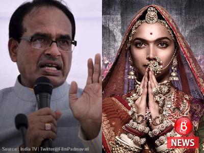 سی ایم شیوراج کا اعلان، مدھیہ پردیش میں نہیں دکھائی جائے گی 'پدماوتی'فلم