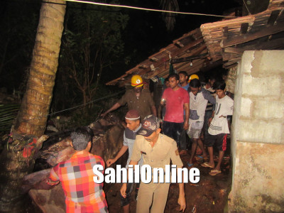 Fire erupted at a house in Makhdoom Colony, Bhatkal