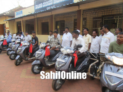 Scooters distributed among physically challenged people in Bhatkal