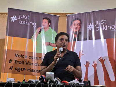Prakash Raj sends legal notice to Mysuru MP for trolling him over PM remark