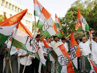 Survey gives thumping majority to Congress in Rajasthan, simple majority in Madhya Pradesh