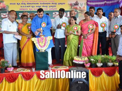 Minister Pramod Madhwaraj inaugurates the Krishi Mela in Brahmavar
