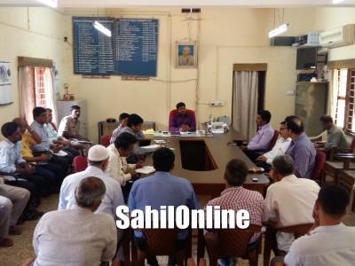 بھٹکل میں کرناٹکا راجیہ اُتسوا دھوم دھام سےمنانے کا فیصلہ : پیشگی میٹنگ میں اے سی نے دی تفصیلی جانکاری