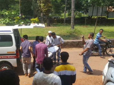 Kumta based student injured in a road accident in Bhatkal