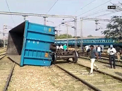 Goods train derails in Mathura, Delhi-Agra route disrupted