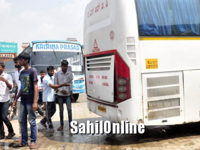 Engine of Mangaluru bound Volvo bus catches fire, passengers safe