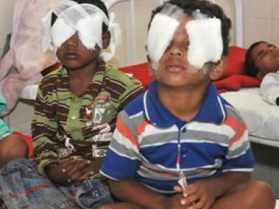 دیوالی کے موقعہ پر آتش بازی سے 30افراد کی آنکھیں زخمی