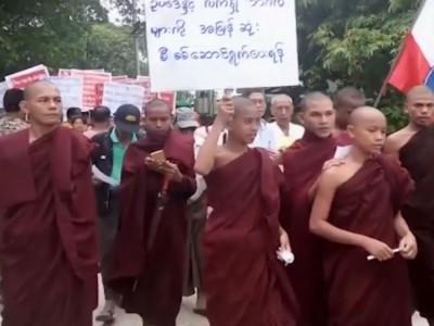 روہنگیا کے خلاف بدھ بھکشوؤں کا مظاہرہ