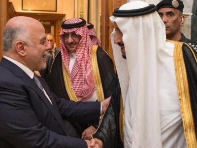 عراقی وزیراعظم حیدر العبادی کی الریاض آمد ، شاہ سلمان سے ملاقات