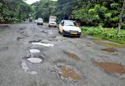 Survey for road work being taken up in Mundgod