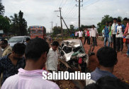 1 killed, 3 injured after car crashes with lorry on Bhatkal NH-66