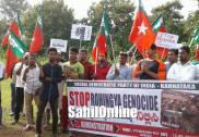 بھٹکل اور سرسی میں ایس ڈی پی آئی نے روہنگیا مسلمانوں کی حفاظت کا مطالبہ لے کر یواین اؤ کو میمورنڈم سونپا