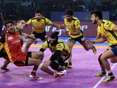 Telugu Titans vs Bengaluru Bulls match ends 26-26 draw