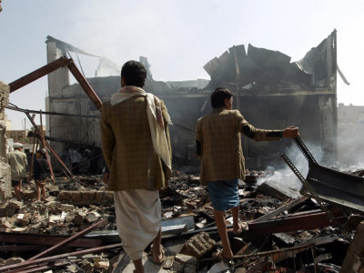 سعودی اتحاد کا فضائی حملہ، ایک درجن یمنی شہری ہلاک