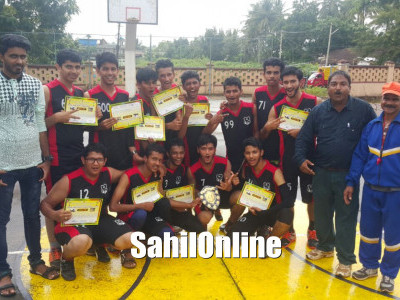 Anjuman PU College bags Kabaddi championship and Runnerup in Basketball event held at Karwar