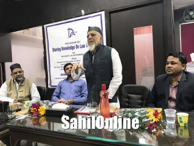 جمعیۃ العلماء کے سربراہ گلزار اعظمی کا دہلی میں وکلاء سے خصوصی خطاب؛ قانون کی فیلڈ میں مسلم تناسب بڑھانے کی اپیل