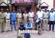 ساحلی علاقوں میں چوری ، ڈکیتی کے معاملات میں ملوث بھٹکل کے 2 ملزم گرفتار،ایک فرار