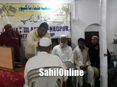 جمعیۃ علماء ناگپور کی جانب سے میڈیکل کیمپ کا انعقاد ، 300؍مریضوں کی آنکھوں کا چیک اپ