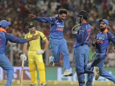Kuldeep Yadav takes hat-trick as India beat Australia by 50 runs