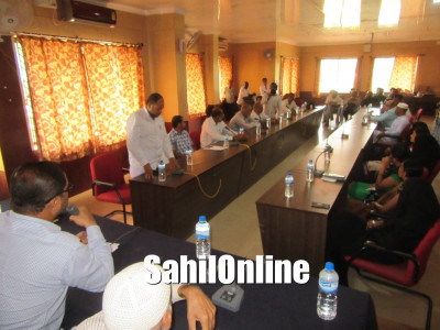 Council meeting held at the municipal office, Bhatkal