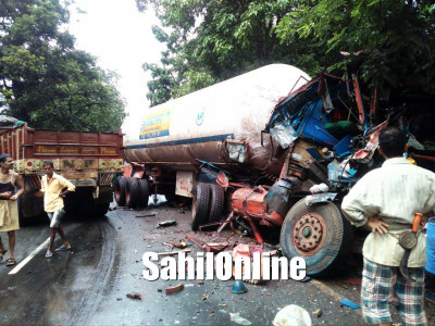 Tanker-Lorry Collision on NH 63, Yellapur