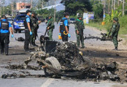 بم پھٹنے سے چار تھائی فوجیوں کی ہلاکت