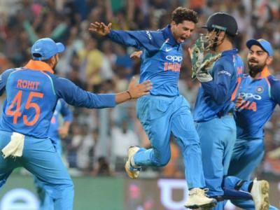 ہندوستان نےآسٹریلیا کو دوسرے میچ میں50رنز سے شکست  دی'  کلدیپ کی ہیٹ ٹرک
