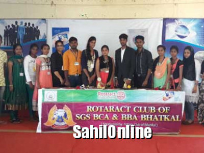 ಭಟ್ಕಳ: ರೋಟರಾಕ್ಟ ಸಂಸ್ಥೆಯ ಪದಗ್ರಹಣ ಸಮಾರಂಭ
