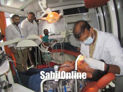 بھٹکل میں دانتوں کے امراض کا مفت ٹریٹمنٹ کیمپ؛  ینوپویا اسپتال سے ماہر ڈاکٹروں کی خدمات؛ کثیر تعداد میں مریضوں نے کیا استفادہ