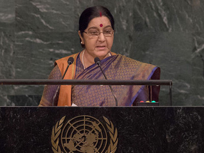 Muslims in India reject extremism, says Sushma Swaraj
