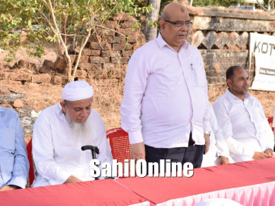 Construction work for Tanzeem's Commercial Complex begins in Bhatkal nawayath colony