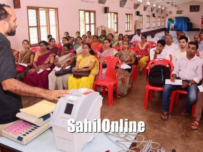 Training for polling officers held ahead of Karnataka assembly elections