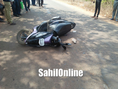 Woman killed on the spot after truck crashes into her scooty in Kumta